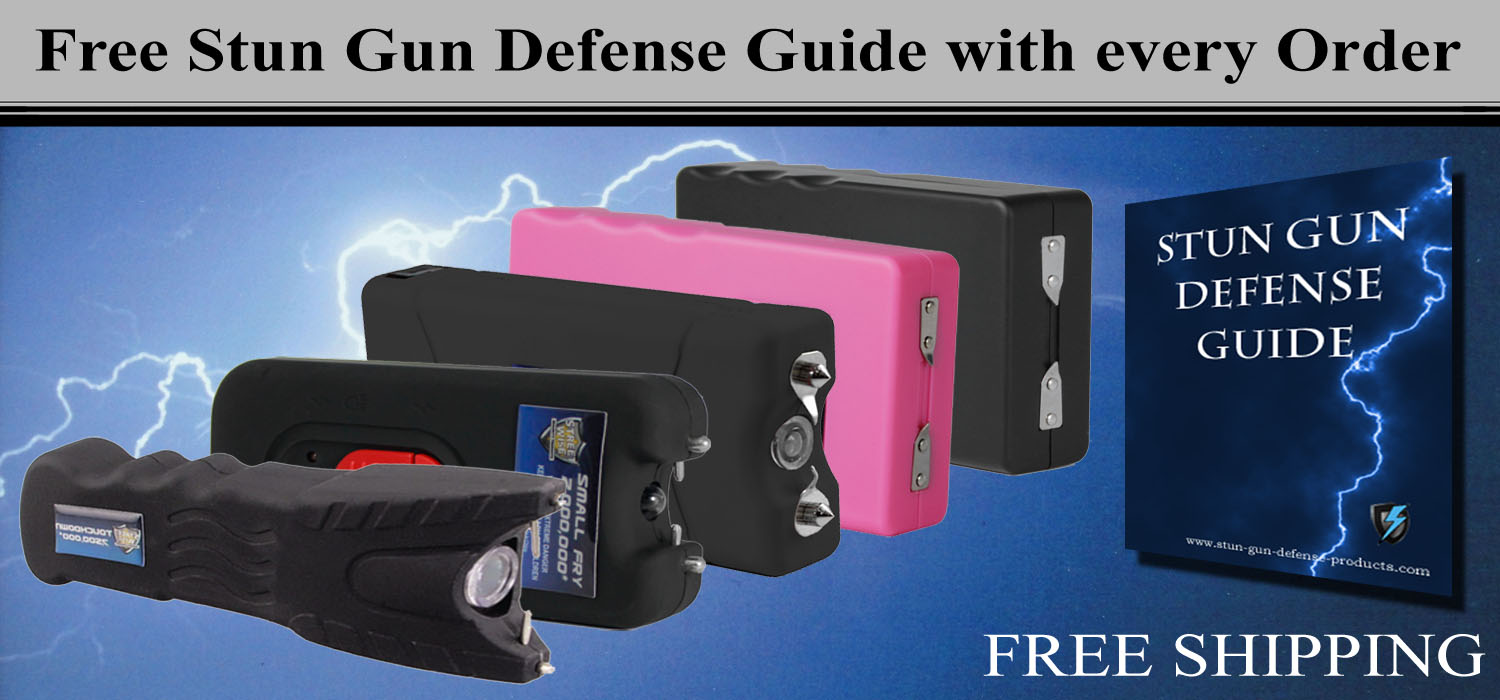 Free Stun Gun Defense Guide with every purchase.