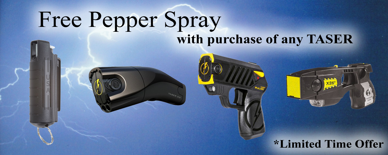 Free Mace pepper spray with purchase of any Taser.
