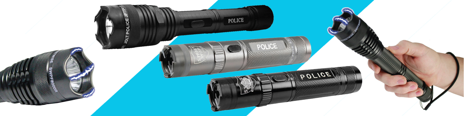 Flashlight stun guns, Free Stun Gun Defense Guide with every order.
