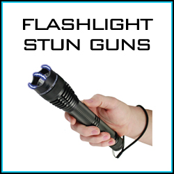 Flashlight stun gun personal self defense products.