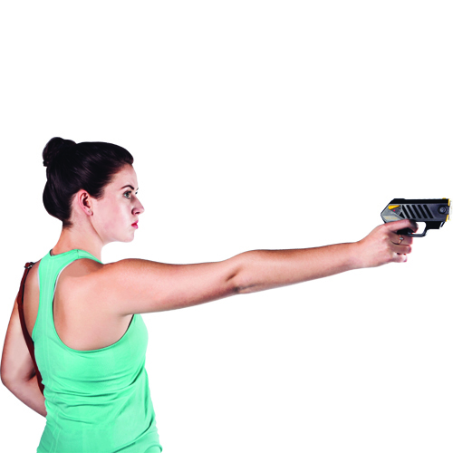 The Taser Pulse features laser assisted targeting, iron sights, 15 ft ...