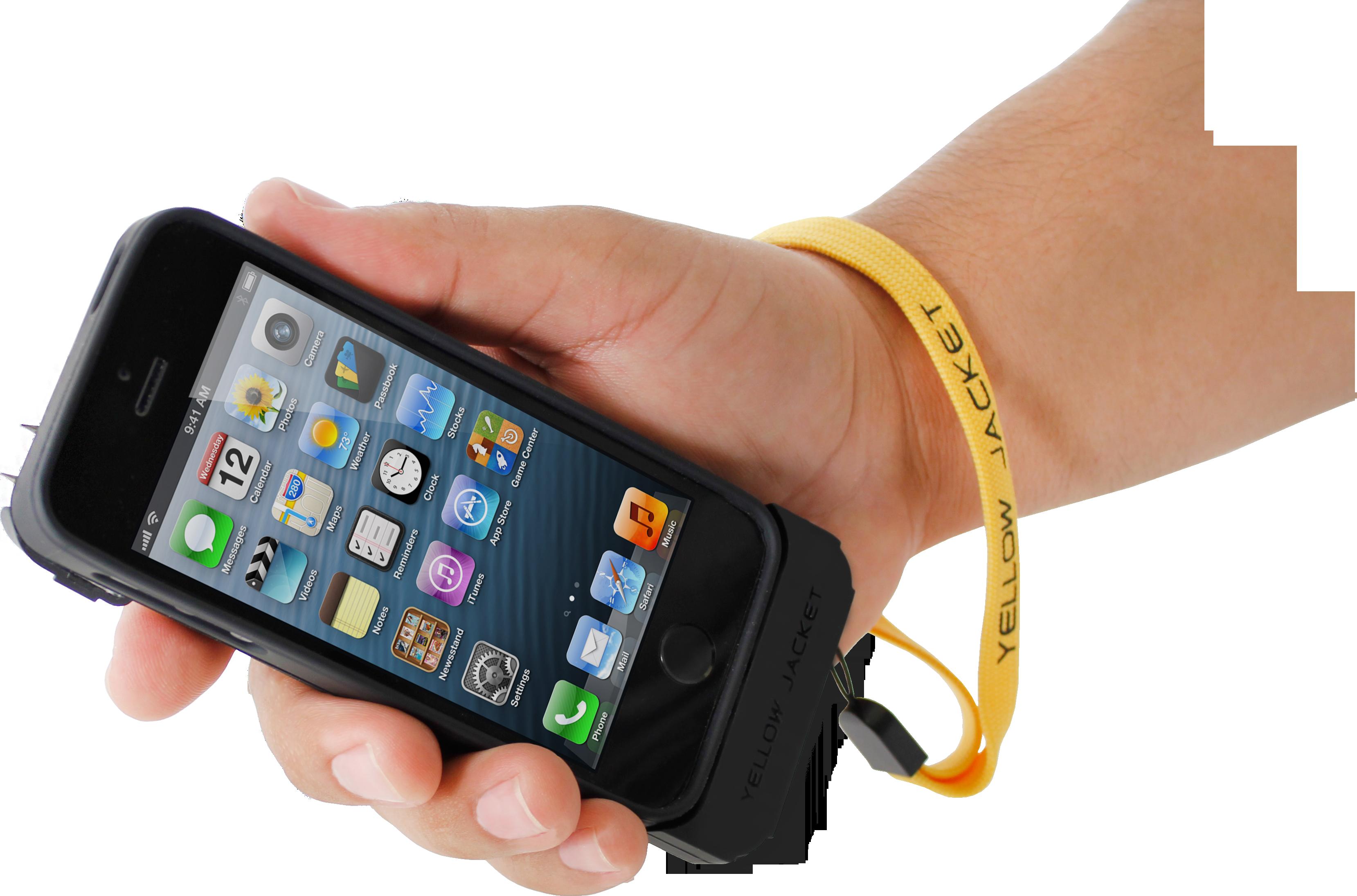 iPhone Stun Gun Case Yellow Jacket iPhone 5/5S/SE Case: Stun Gun ...