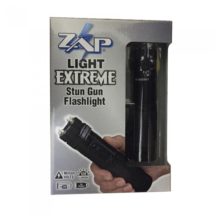 zap light extreme 1 million volt stun flashlight stun gun defense