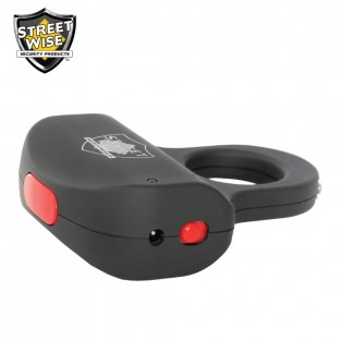 The sting ring features squeeze-n-stun technology, is easily concealable, has a safety switch, and is rechargeable so it is always ready for use.