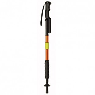 "This high voltage hiking staff expands from 29"" to 56"" long and features a flashlight, rubberized non-slip grip, and reflective band. Great for everyday walking, hiking and camping."