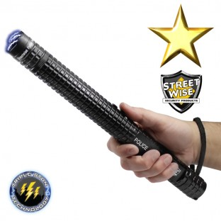 Police Force 12 Million Volt Tactical Stun Baton Flashlight