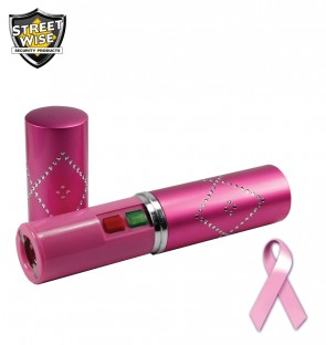 The Streetwise stun gun pen is compact and rechargeable, and features bright LED light and safety cap.