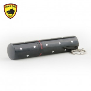 This powerful concealed keychain stun gun features a bright flashlight, exclusive Guard Dog Inner Stun Technology, and is rechargeable.