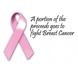 A portion of the proceeds from this product goes to fight breast cancer.