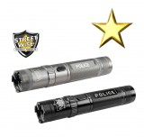 Police Force 9.2 Million Volt Rechargeable Tactical Stun Flashlight, Black or Gun Metal
