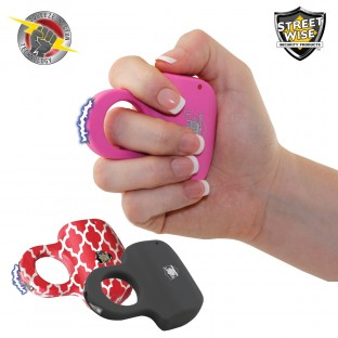 Streetwise Sting Ring 18 Million Volt Rechargeable Stun Gun, Choose Color